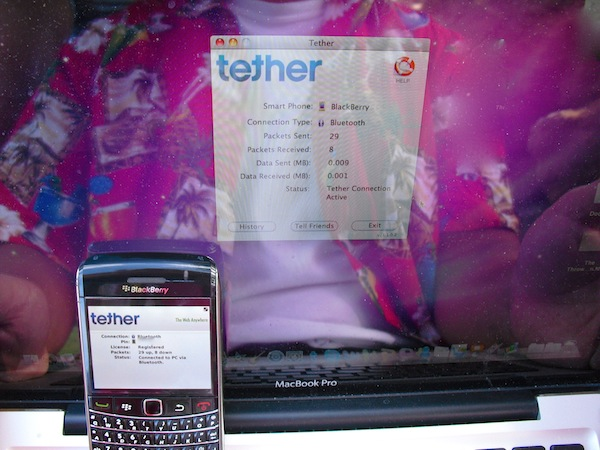 Tether for BlackBerry