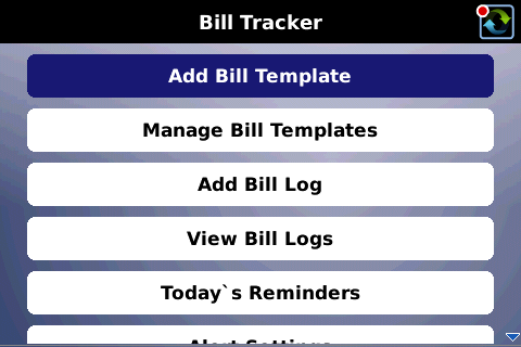 Bill Tracker BlackBerry