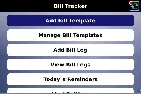 Bill Tracker BlackBerry