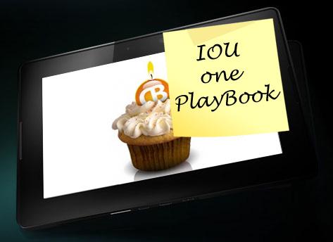 BlackBerry PlayBook IOU CrackBerry