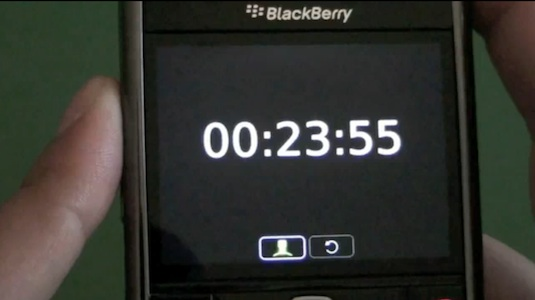 BlackBerry Clock Application