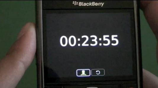 BlackBerry Clock Application