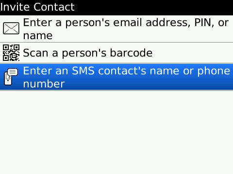 BBM - Add a contact