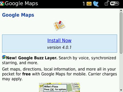 Google Maps 4.0.1