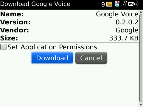 Google Voice for BlackBerry