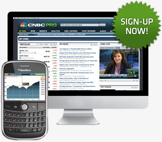CNBC Pro for BlackBerry