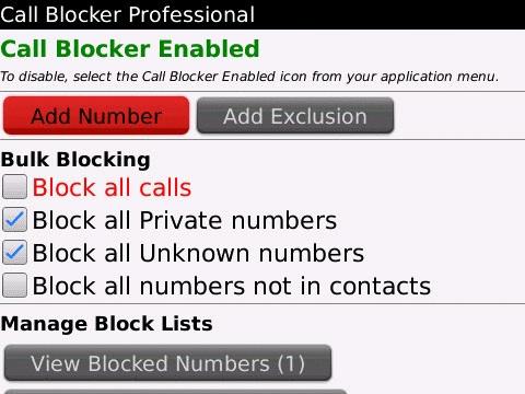 Call Blocker Pro for BlackBerry