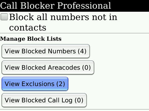 Call Blocker Pro for BlackBerry