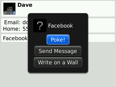 Facebook for BlackBerry