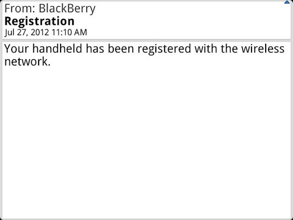 Register BlackBerry