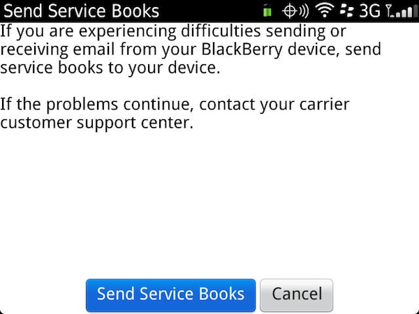 BlackBerry Service Books