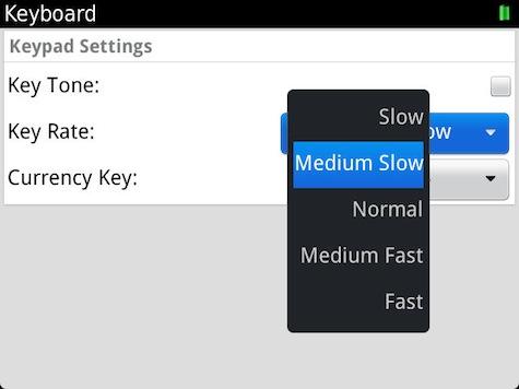 Key Rate Settings