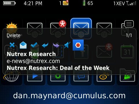 BerryPopup for BlackBerry