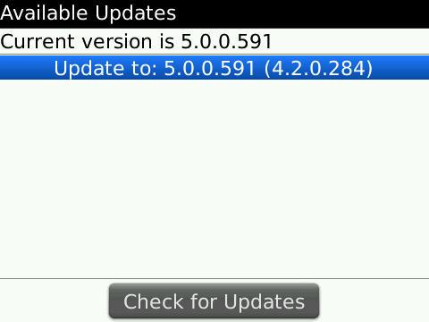 Tour OS 5.0.0.591 update