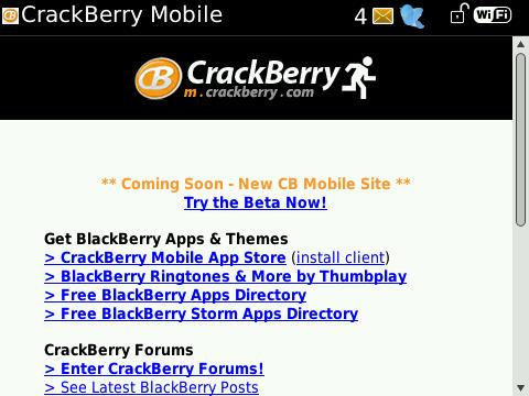 BlackBerry Bold 9700 Browser