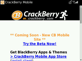 BlackBerry Curve 8530 Browser