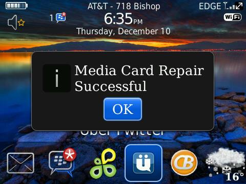 Media Card Error