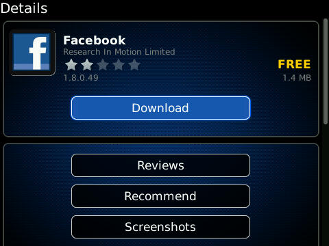 Facebook 1.0.8.49