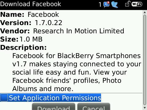 Facebook 1.7.0.22