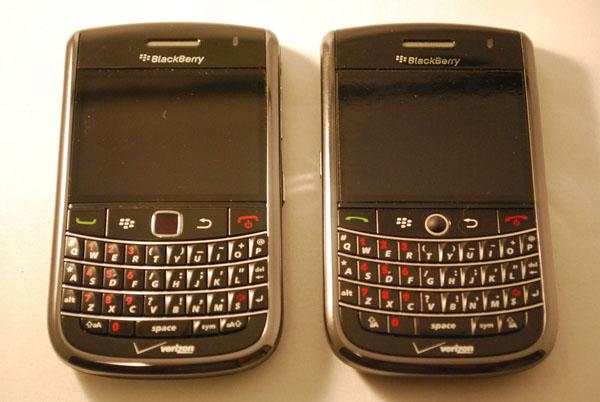 Verizon BlackBerry Bold 9650 & Tour 9630 Side by Side