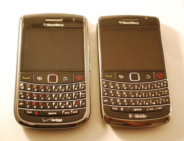 Verizon Bold 9650 vs. T-Mobile Bold 9700