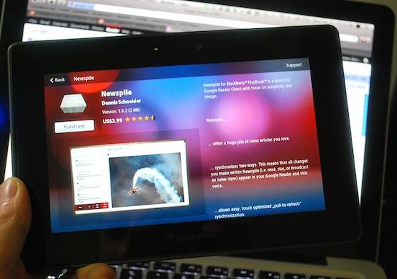 Newspile BlackBerry PlayBook
