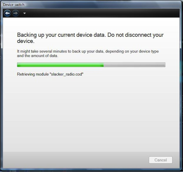 Backing Up Apps