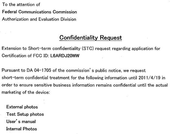 BlackBerry PlayBook FCC extension