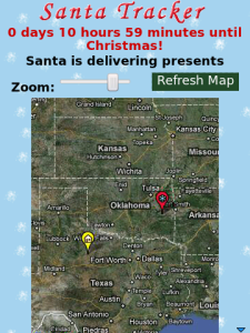 Santa Tracker for BlackBerry