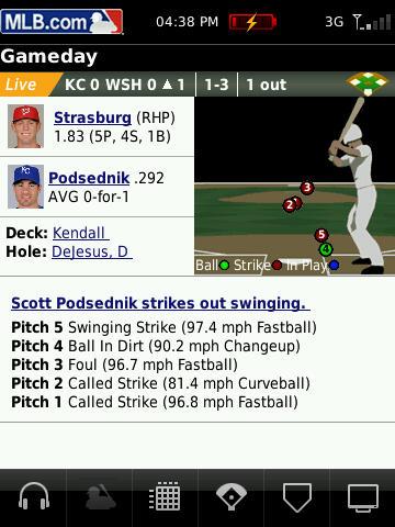MLB At Bat 2010 for BlackBerry