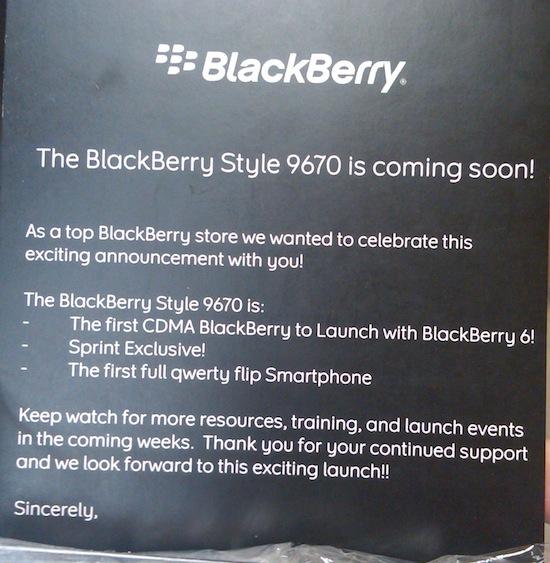 BlackBerry Style 9670 Sprint Promo