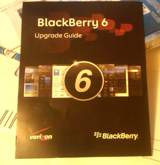 Verizon BlackBerry 6 Upgrade Guide