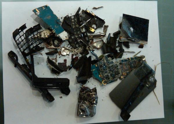 BlackBerry vs. Lawnmower