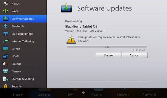 PlayBook OS 1.0.3.1868