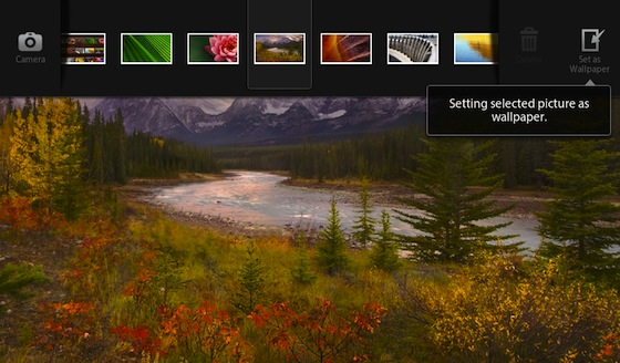 BlackBerry PlayBook Change Wallpaper