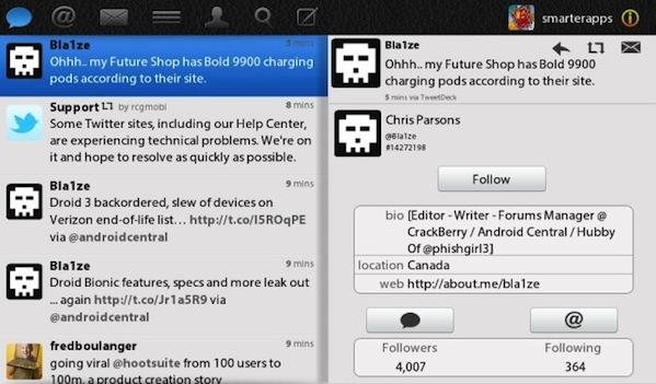 TweetBook BlackBerry PlayBook