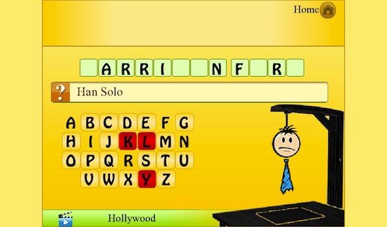 Hangman BlackBerry PlayBook