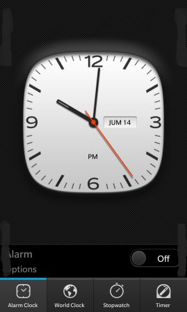BlackBerry 10 Native Clock