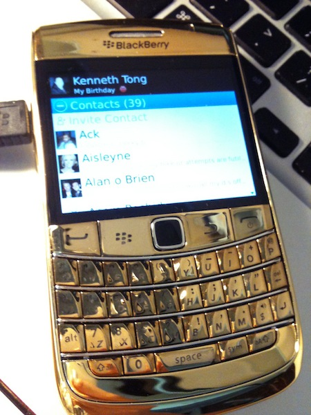 24 Carat Gold Plated Bold 9700