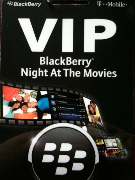 BlackBerry Night At The Movies