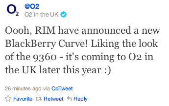O2 BlackBerry Curve 9360
