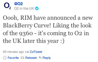 O2 BlackBerry Curve 9360