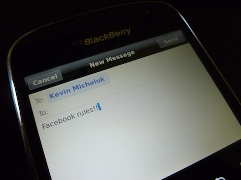 Facebook Messenger BlackBerry