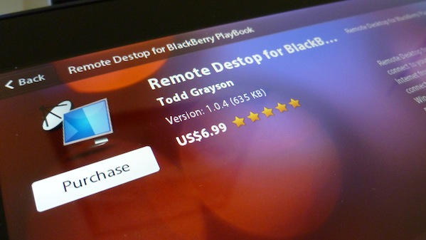 Remote Desktop BlackBerry PlayBook