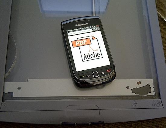 PDF Scanner BlackBerry