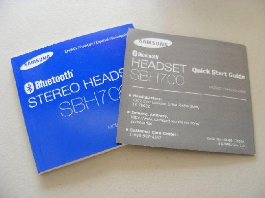 sbh700 manuals