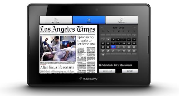 PressReader PlayBook