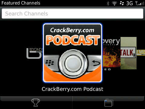 CrackBerry Podcast in BlackBerry Podcasts App