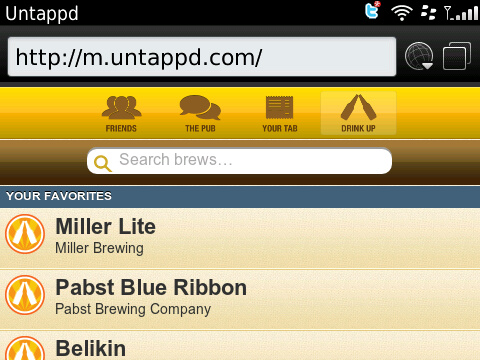 Untappd for BlackBerry