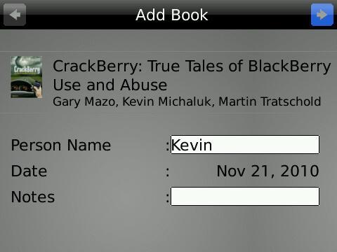 My Books BlackBerry